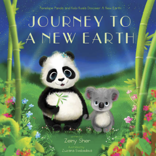 Journey To A New Earth: Penelope Panda and Kobi Koala Discover A New Earth by Zeiny Sher {Children's Book Review}